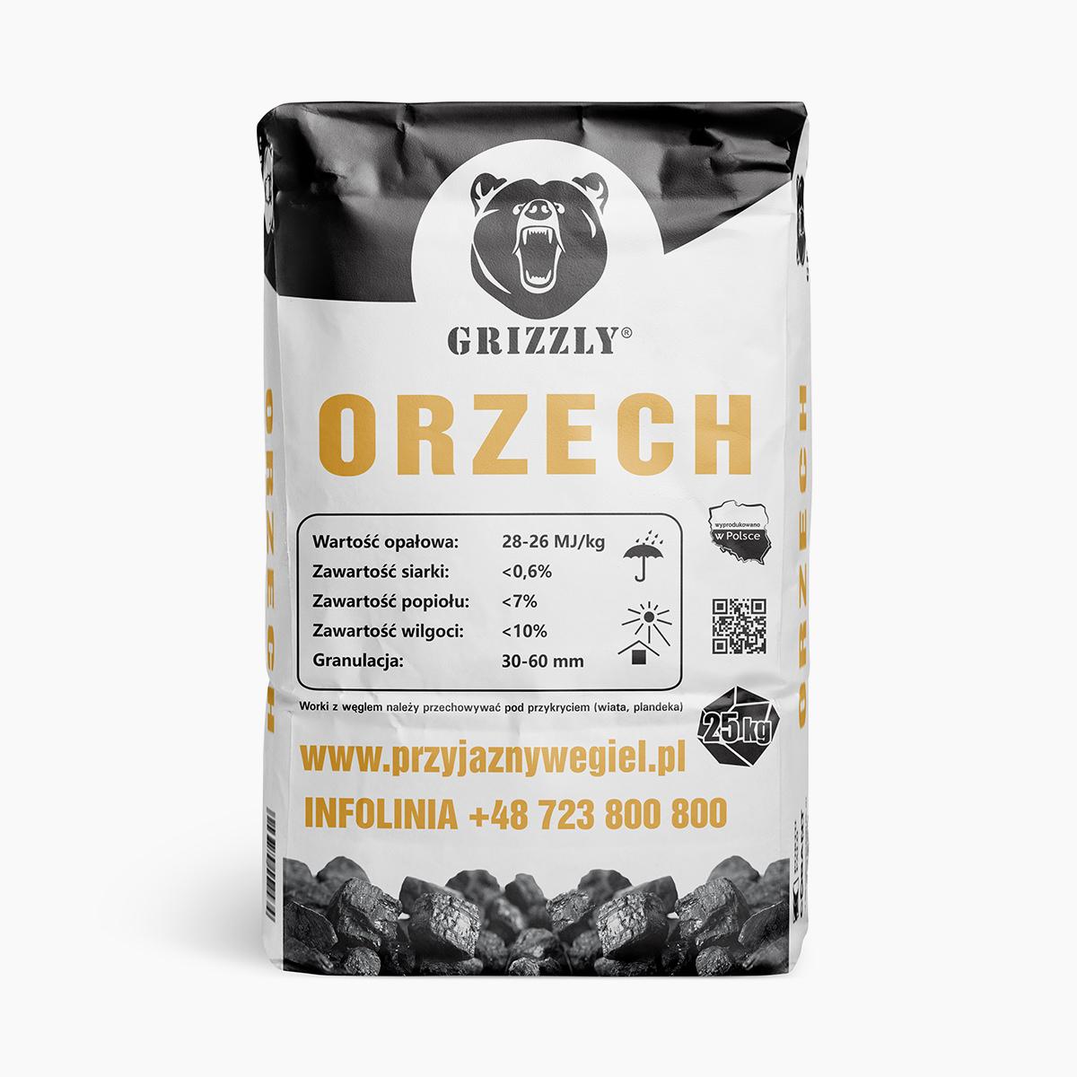 Węgiel Grizzly Orzech | Przyjazny Węgiel - sklep online z ekologicznym opałem