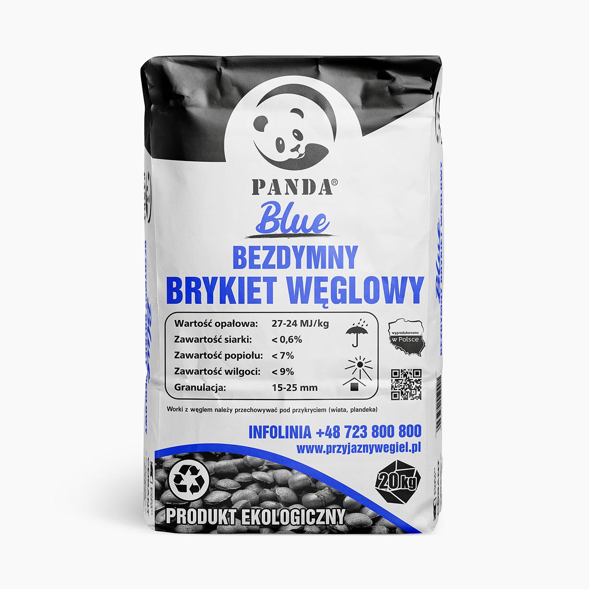 Bezdymny brykiet węglowy PANDA Blue | Przyjazny Węgiel - sklep online z ekologicznym opałem